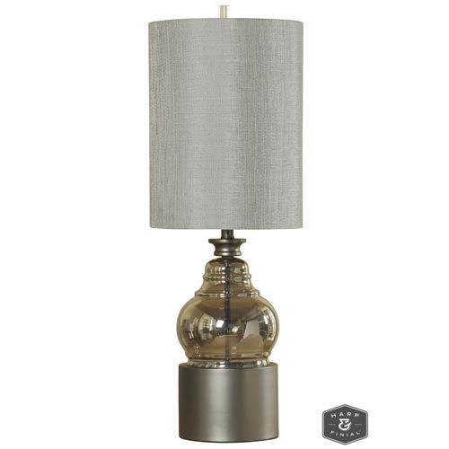 Harp & Finial Cordoba Smoke Glass Body One-Light Table Lamp