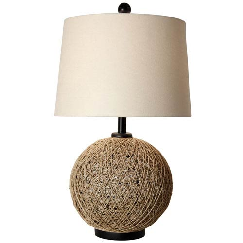Stylecraft cabana joe natural rattan rope one light table lamp stylecraft cabana joe natural rattan rope one light table lamp aloadofball Images