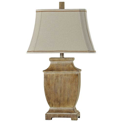 Gambell and Faux Wood One-Light Table Lamp