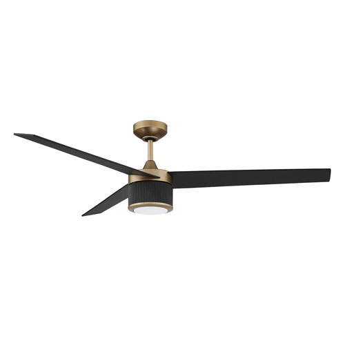 Trilon Oilcan Br And Black Led Ceiling Fan With Blades