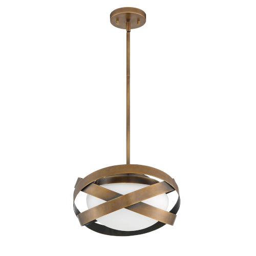 Saturn Brass One-Light Pendant