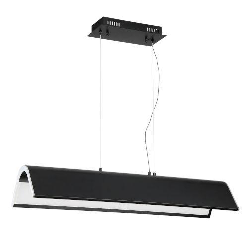 Ultimor Black and Chrome Integrated LED Pendant