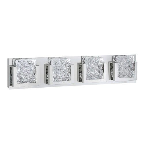 Ice-Lava Chrome Integrated Four-Light LED Bath Vanity