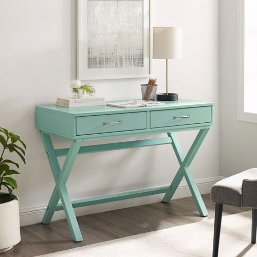 Pamela Pastel Turquoise Two Drawer Desk
