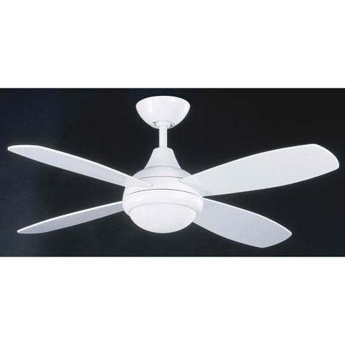 Aviator 42-Inch White with White Blades Ceiling Fan