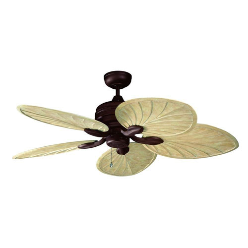 Kendal Lighting Copacabana 52-Inch Oil Rubbed Bronze with Palm Style Oak Blades Ceiling Fan