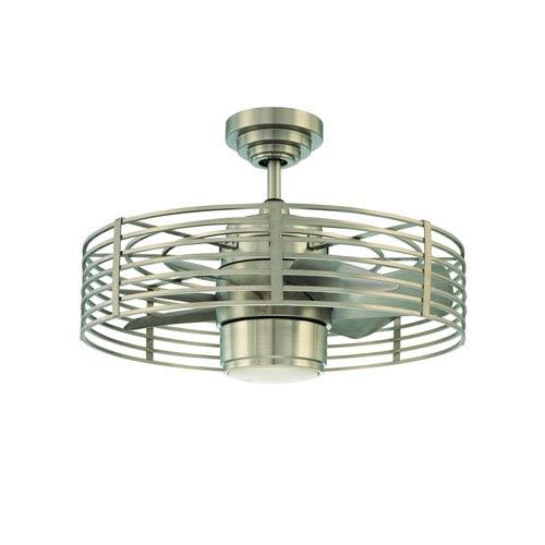 Kendal Lighting Enclave 23-Inch Satin Nickel finish Ceiling Fan