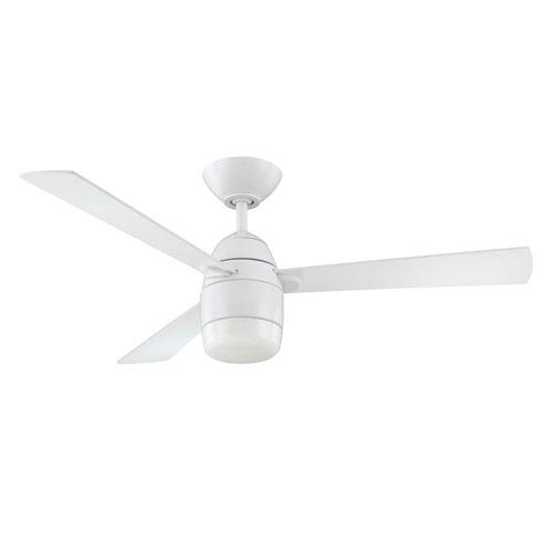 Kendal Lighting Antron 42-Inch White with White Blades Ceiling Fan