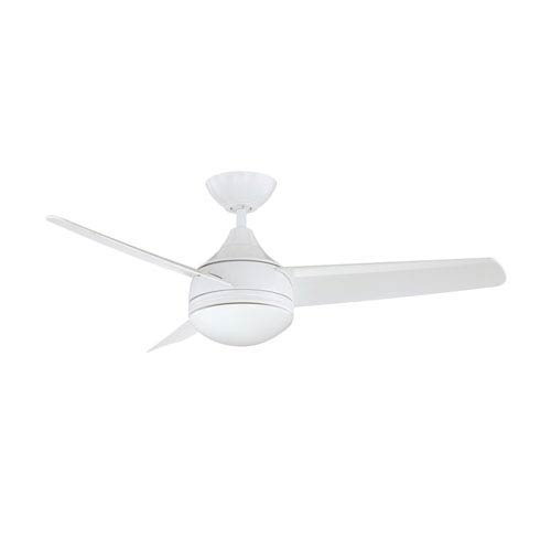 Moderno 42-Inch White with White Blades Ceiling Fan