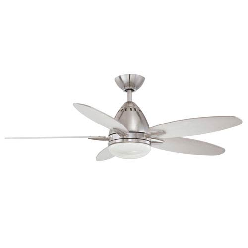 Navaton 44-Inch Satin Nickel with Reversible Elmwood and Rubbed Bronze Blades Ceiling Fan