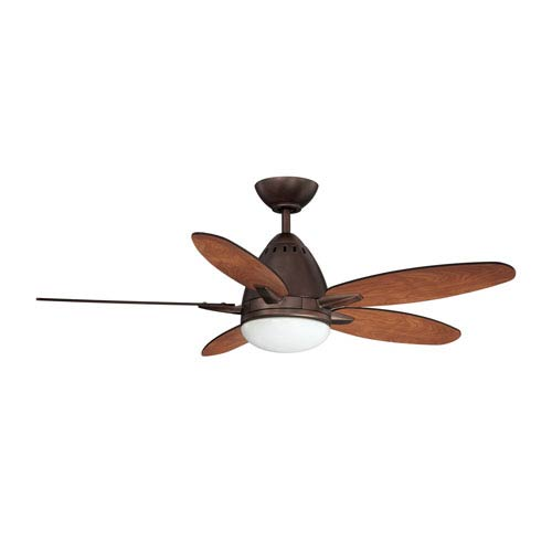 Kendal Lighting Navaton 44-Inch Oil Brushed Bronze with Reversible Elmwood and Rubbed Bronze Blades Ceiling Fan