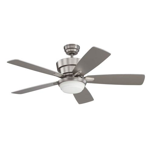 Kendal Lighting Barcelona 44-Inch Satin Nickel with Silver Blades Ceiling Fan