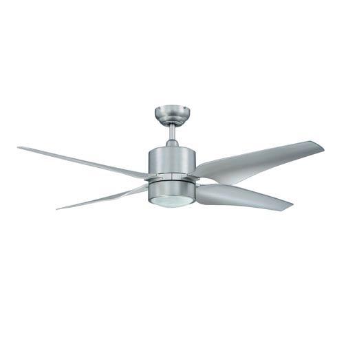 Kendal Lighting Nexor 52-Inch Satin Nickel with Silver Blades Ceiling Fan