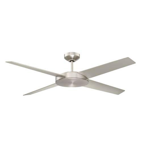 Lopro 52-Inch Satin Nickel LED Ceiling Fan