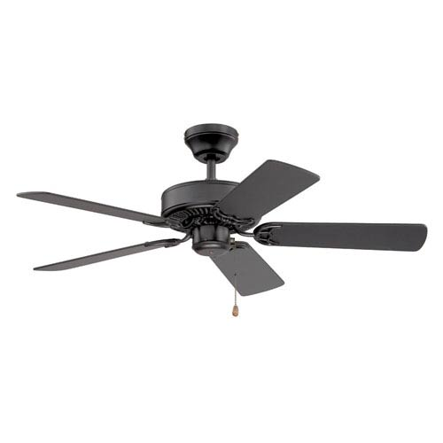 Builders Choice 42-Inch Black with Black Blades Ceiling Fan