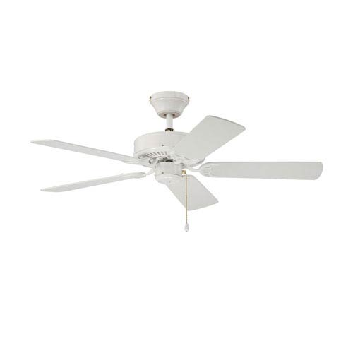 Kendal Lighting Builders Choice 42-Inch White with White Blades Ceiling Fan