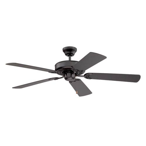 Kendal Lighting Builders Choice 52-Inch Black with Black Blades Ceiling Fan