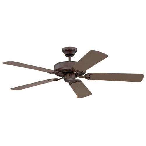 Kendal Lighting Builders Choice 52-Inch Oil Rubbed Bronze with Matching Blades Ceiling Fan