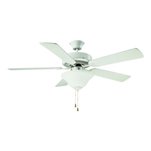 Builders Choice 52-Inch White with White Blades Ceiling Fan