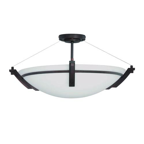 Portobello Oil Rubbed Bronze Four-Light 23-Inch Semi-Flush Mount