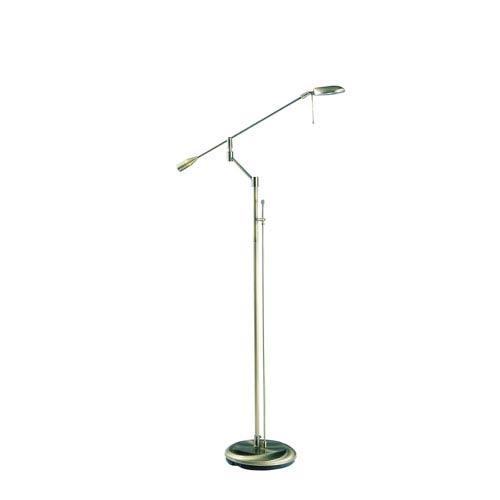 Kendal Lighting Baron Antique Brass One-Light Floor Lamp