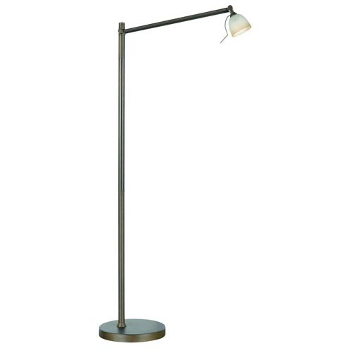 Kendal Lighting Ibis Oil Rubbed Bronze with Caspian glass One-Light Floor Lamp