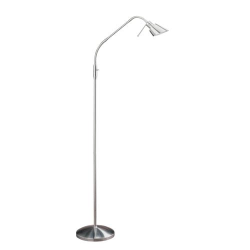 Oslo Satin Nickel One-Light Floor Lamp