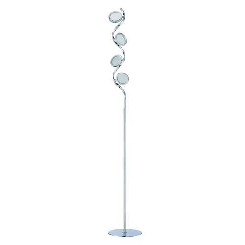 Milan Chrome Four-Light LED Floor Lamp