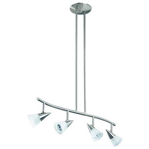 Kendal Lighting Apex Satin Nickel Four-Light 32.5-Inch Fixed Rail