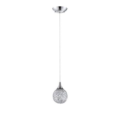 Kendal Lighting Solaro Chrome One-Light Five-Inch Mini-Pendant