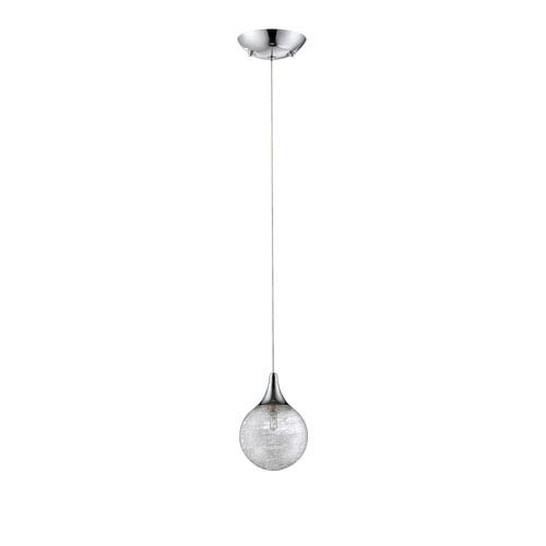 Fybra Chrome One-Light Five-Inch Mini-Pendant
