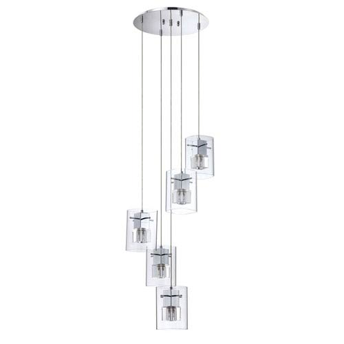 Kendal Lighting Metro Chrome Five-Light 16-Inch Mini-Pendant