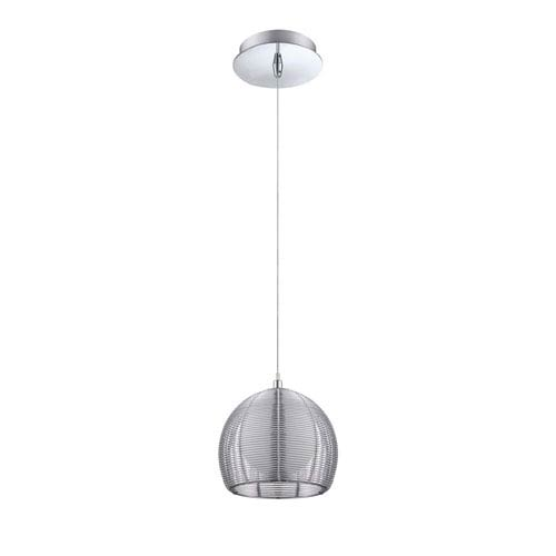 Kendal Lighting La Cage Chrome One-Light Six-Inch Mini Pendant