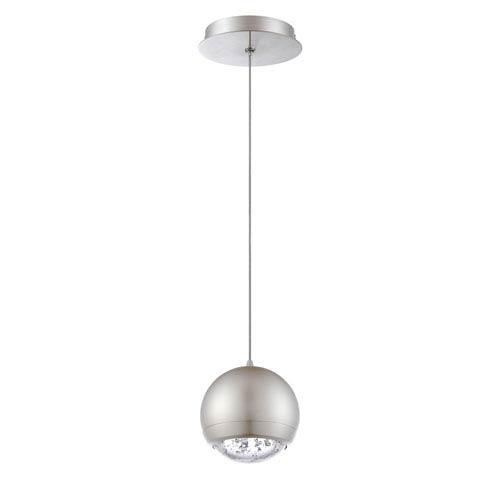 Kendal Lighting Spumante Satin Nickel One-Light Five-Inch Mini-Pendant