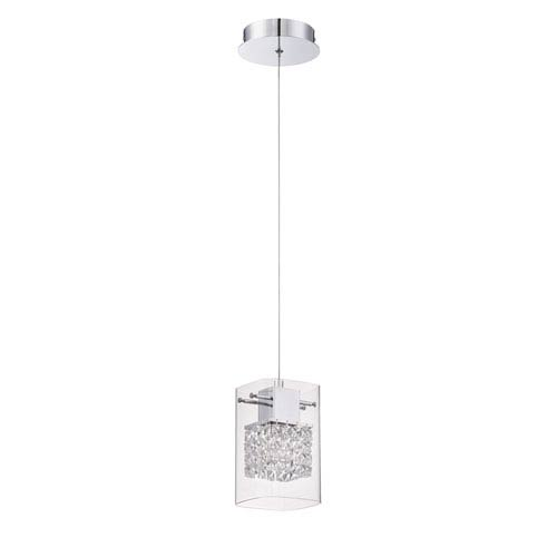 Politan Chrome One-Light Five-Inch Mini-Pendant