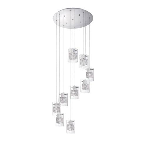 Politan Chrome Nine-Light 22-Inch Mini-Pendant
