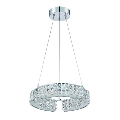 Kendal Lighting Carina Chrome Six-Light 16-Inch Chandelier