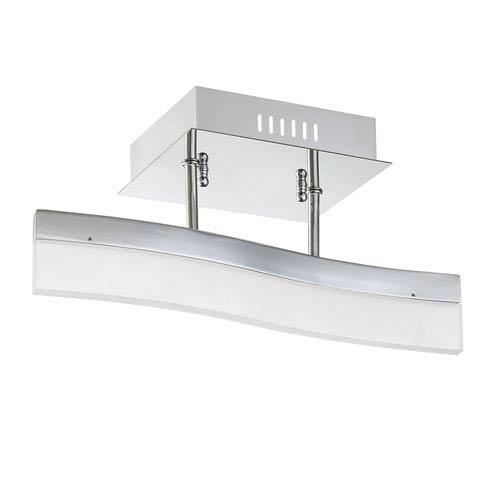 Kendal Lighting Cerv Chrome LED Semi-Flush Mount