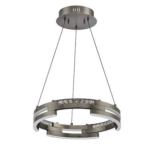 Satern Black Stainless 18-Inch LED Pendant