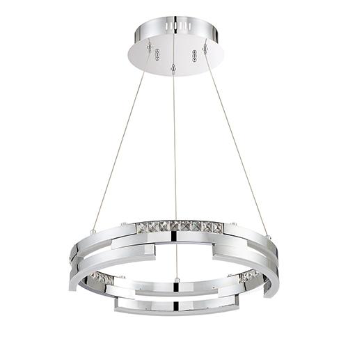 Satern Chrome 18-Inch LED Pendant
