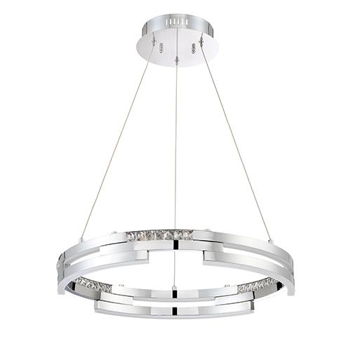 Satern Chrome 24-Inch LED Pendant