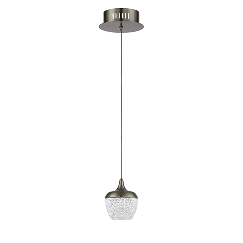 Arika Black Stainless LED Mini Pendant