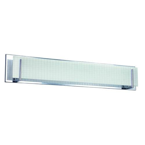 Aurora Chrome Six-Light Vanity with Linen Glass