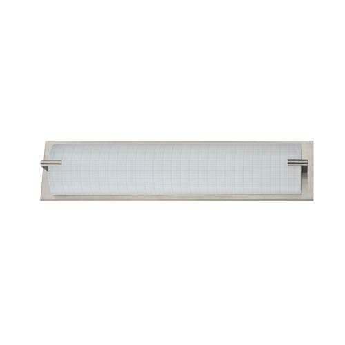 Kendal Lighting Paramount Satin Nickel Four-Light Vanity with Linen Glass