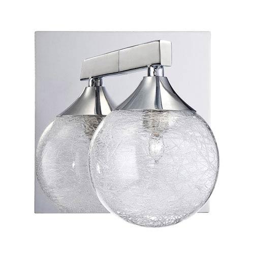 Kendal Lighting Fybra Chrome One-Light Bath Sconce