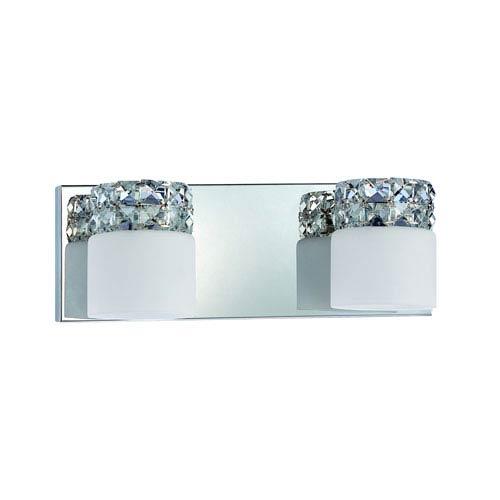 Kendal Lighting Vellase Chrome Two-Light Vanity