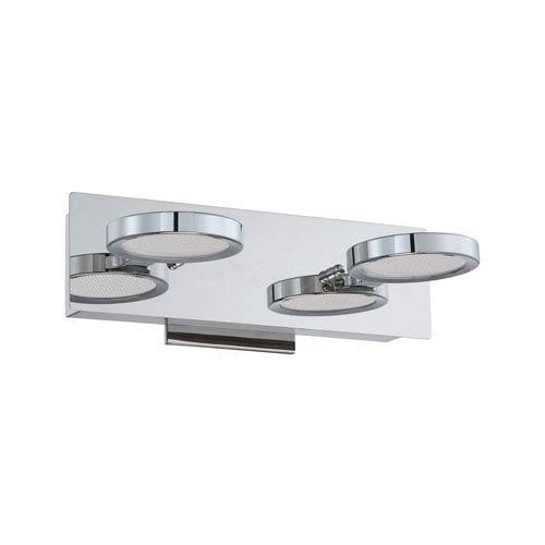 Milan Chrome LED Two-Light Vanity