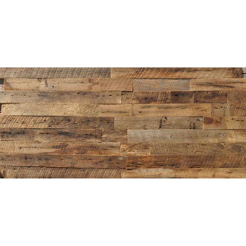 Real Reclaimed Natural Brown Wood, 3.5-Inch Planks