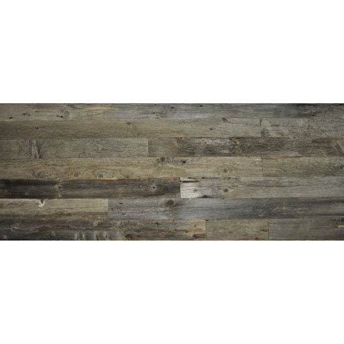 Real Reclaimed Gray Unsealed Wood, 5.5-Inch Planks