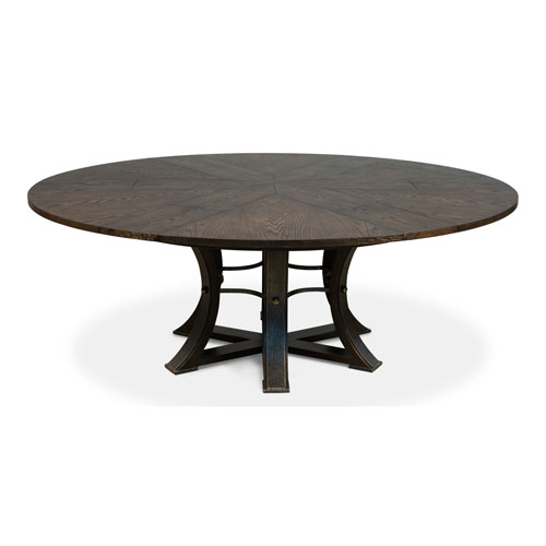 Gray 84-Inch Tower Jupe Dining Table